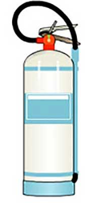 کپسول آتش نشانی غبار آب