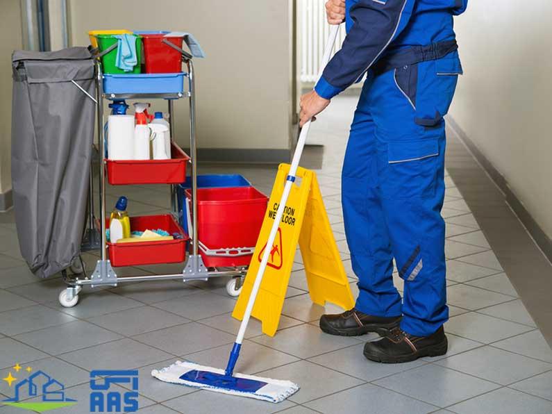 نظافت راه پله ساختمان